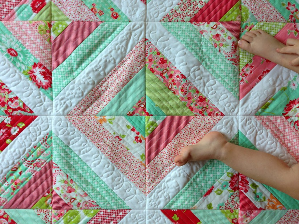 Quilt as you Go Strip Quilt | Quilting in the Rain : quilt as you go baby quilt - Adamdwight.com