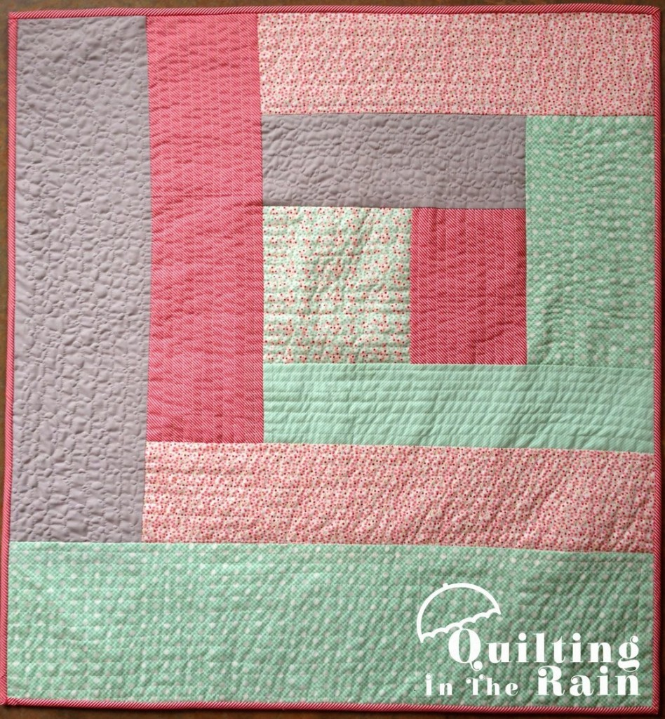 Quilt as you Go Log Cabin Tutorial | Quilting in the Rain : quilt as you go baby quilt - Adamdwight.com