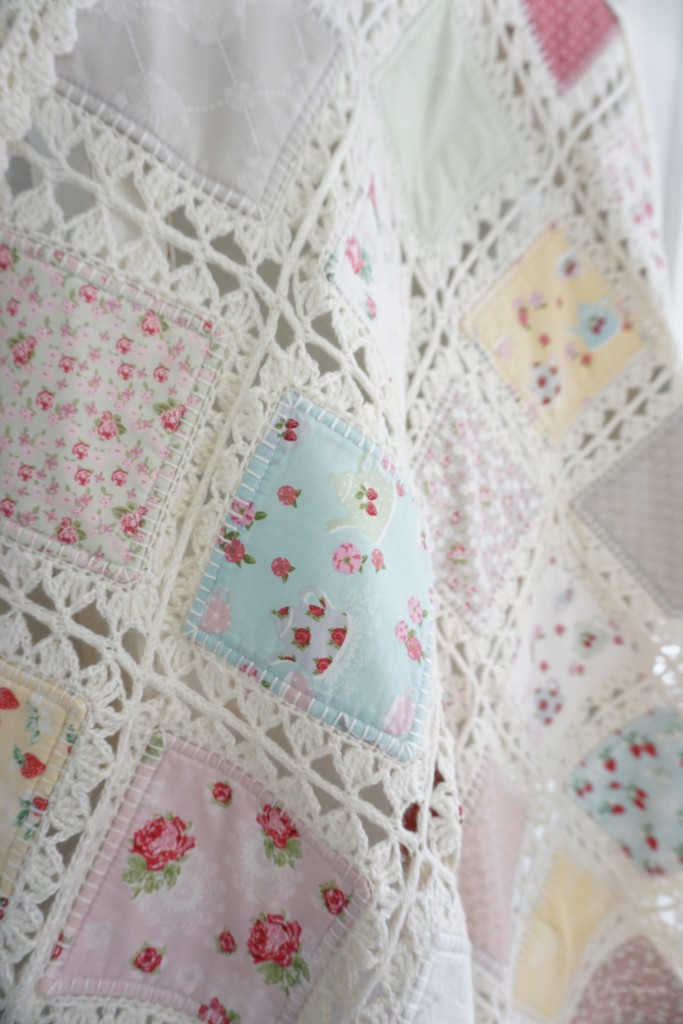 Crocheting Quilts : High Tea Crochet Quilt Tutorial Quilting in the Rain