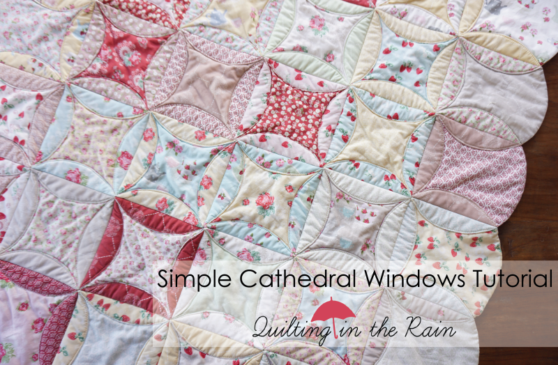 Simple Cathedral Windows Tutorial | Quilting in the Rain : pattern for cathedral window quilt - Adamdwight.com