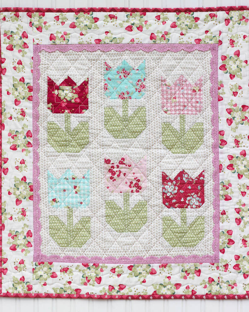 Tiny Tulips Pattern Pdf Instant Download Quilting In The Rain