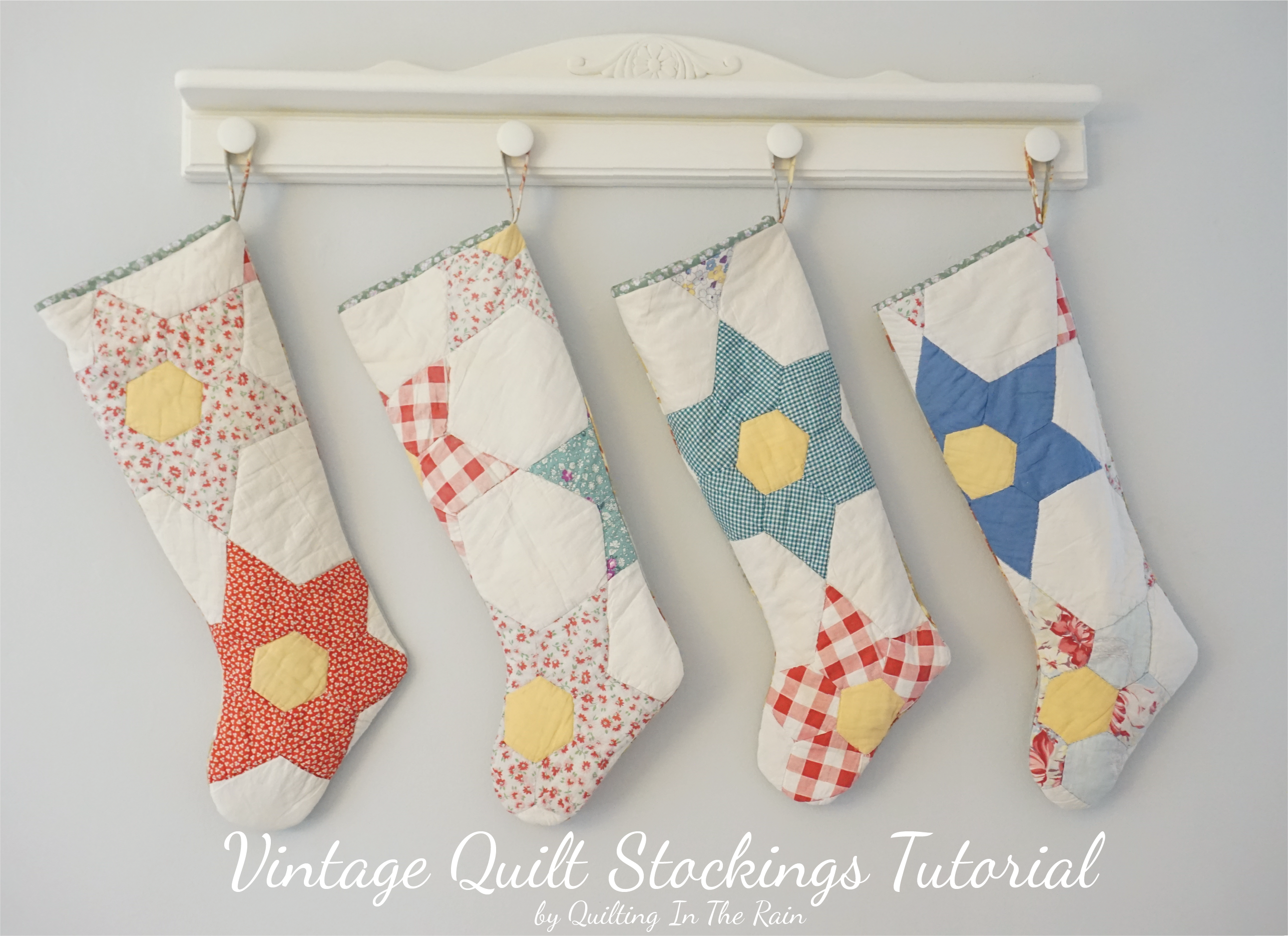 Vintage Quilt Stockings Tutorial