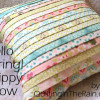 Hello Spring! Strippy Pillow Tutorial
